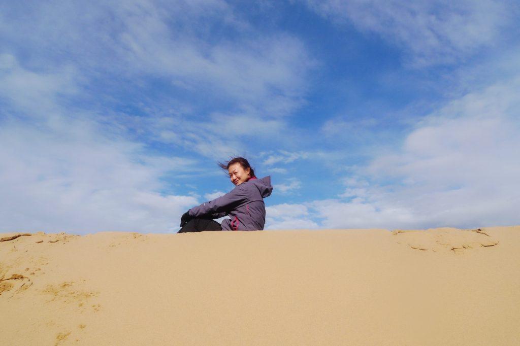 Candice @ Peak Of Khongor Sand Dunes, Mongolia