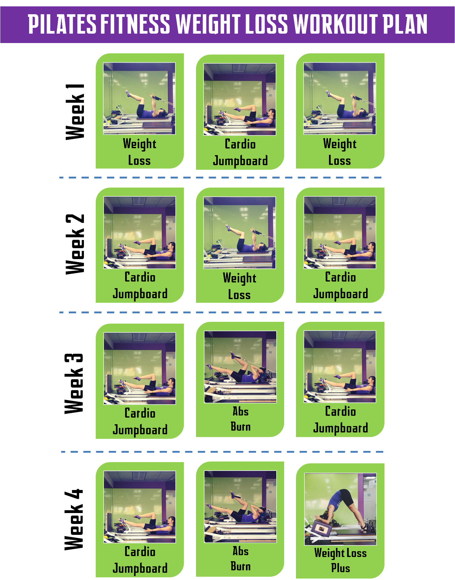 Workout Plans to Win 28 Days Pilates Challenge